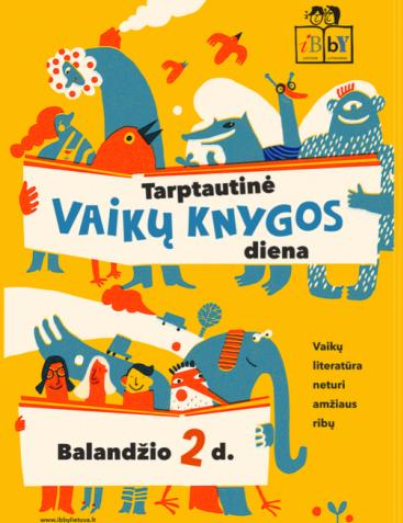 vaikų knygos dienos plakatas